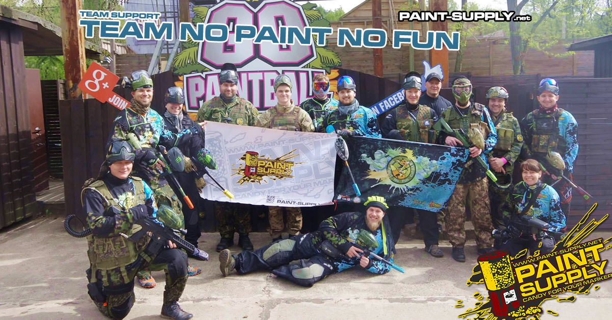 TEAM-SUPPORT: NO PAINT NO FUN