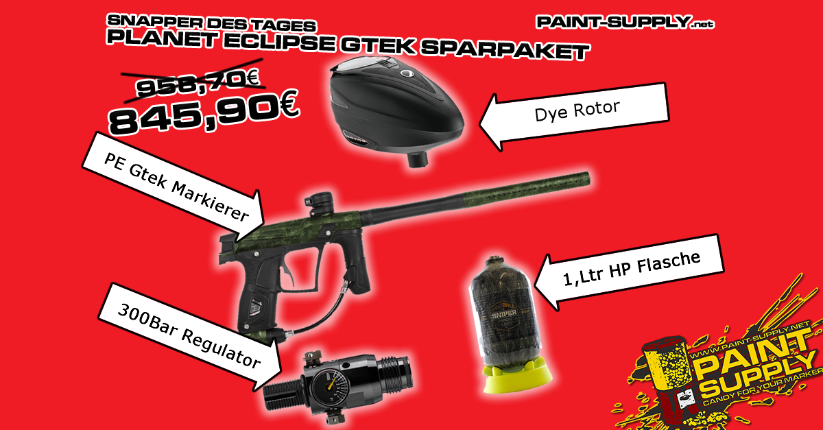 SNAPPER DES TAGES: PLANET ECLIPSE GTEK SPARPAKET