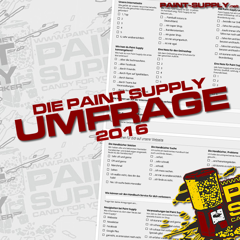 Die Paint- Supply Umfrage 2016